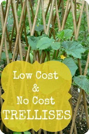 Low Garden Trellis by Low Cost No Cost Garden Trellis Ideas ღ Viral