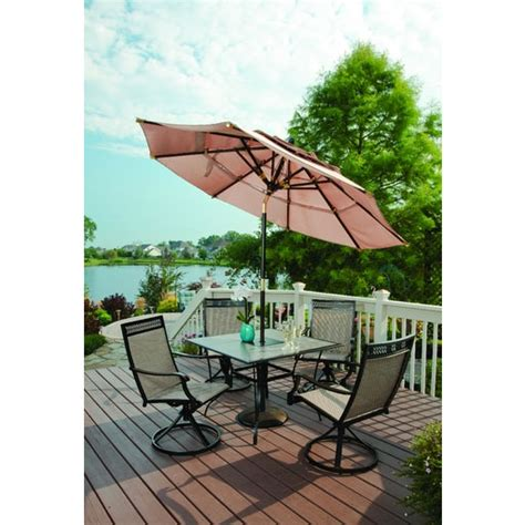 3 tier wood patio umbrella