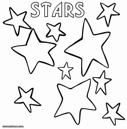 Star Coloring Pages Stars Colorings