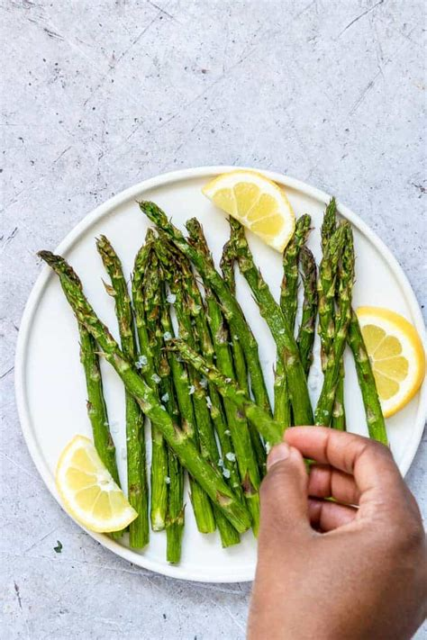 asparagus air fryer fried keto meals recipes gluten recipe plate weight paleo carb vegan whole low serve