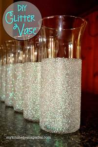 Glitter Vases for Wedding or Christmas Decorations - DIY