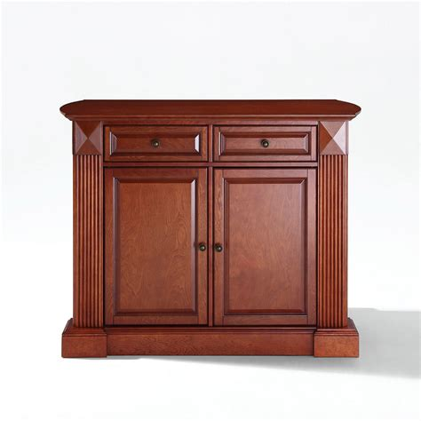 crosley furniture kitchen cart drop leaf breakfast kitchen cart cherry d kf30007ch