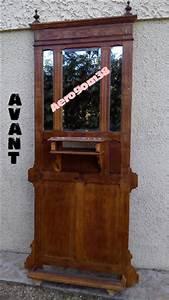Porte manteau ancien avec miroir for Porte manteau ancien avec miroir