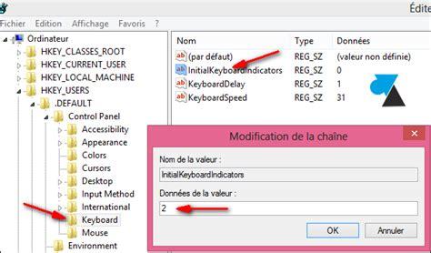 comment mettre une icone sur le bureau activer le pavé numérique au démarrage de windows