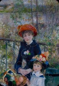 Renoir : Two sisters : Art wooden Puzzle 12 pieces