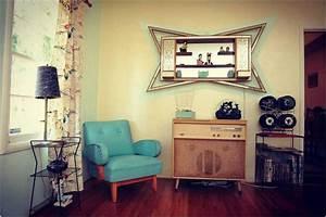 Bild Vintage Einrichtung Wohnzimmer Mit Trkis Sthle