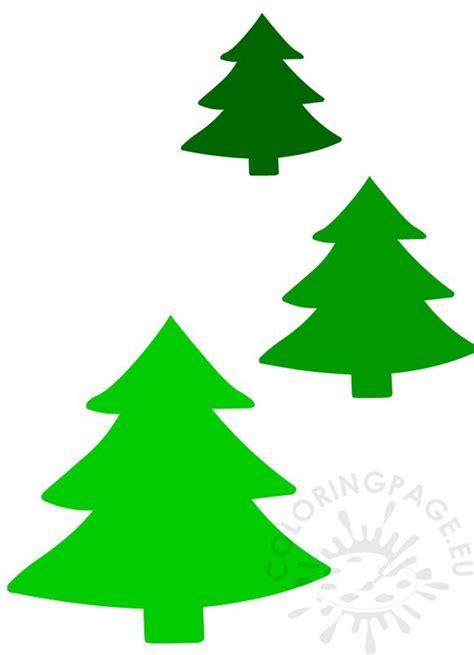 set green christmas trees printable coloring page