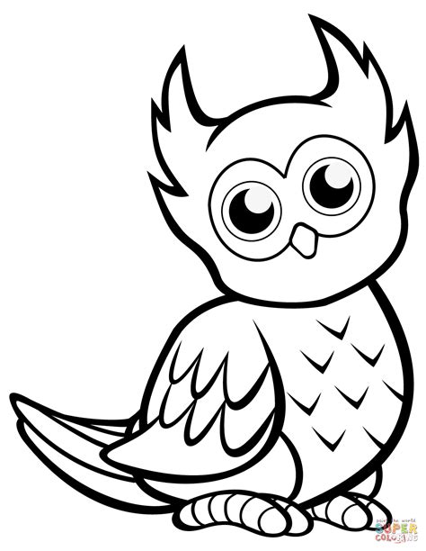 Well Cute Owl Coloring Pages Coloring Paged For Children