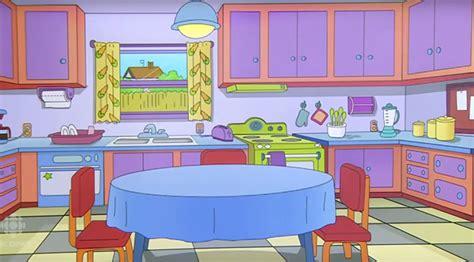 dessins cuisine un reproduit la cuisine des simpsons chez eux