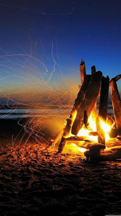 Wallpapers Beach Iphone Tablet Android Bonfire Fire