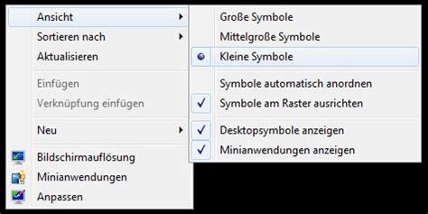 kleine symbole windows 7 desktop symbole verkleinern und vergr 246 223 ern