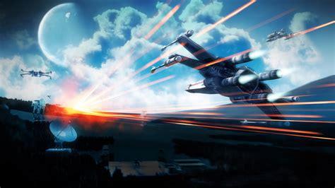 star wars spaceship science fiction battlefield