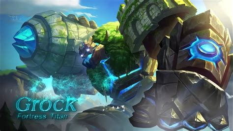 Hero Mobile Legends, Fortress Titan Grock Si Golem Batu