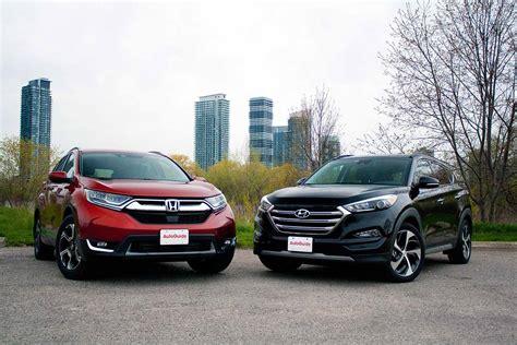 Hyundai Crv by 2017 Honda Cr V Vs Hyundai Tucson Comparison Hyundai
