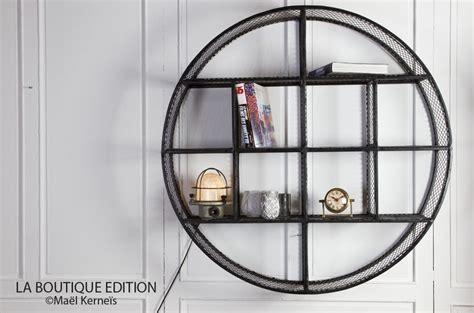 Etagère Circle Ronde En Métal Grillagé Au Design Industriel