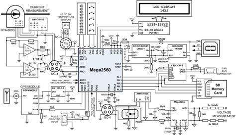 Electric Vehicle Data Recorder Schematic Diagram