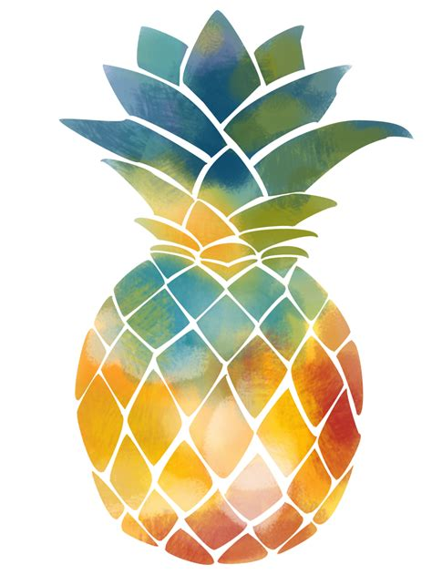 Pineapple Juice - fruit water color png download - 1000 ...