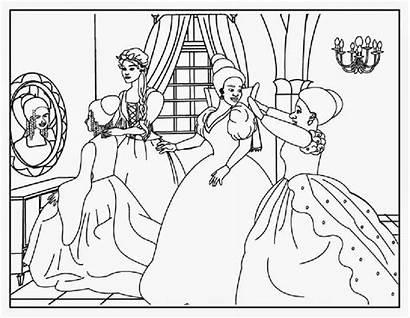 Cinderella Coloring Pages Ballroom Disney Cut Printable