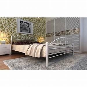 Lit 140 X 200 : acheter lit en m tal 140 x 200 cm pas cher ~ Teatrodelosmanantiales.com Idées de Décoration