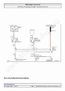 Dodge Caravan Le 1985 Wiring Diagrams Sch Service Manual