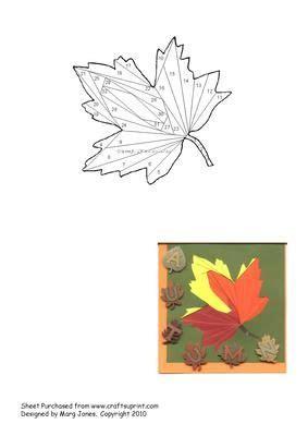 maple leaf iris folding pattern  craftsuprint designed