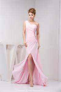 one shoulder bridesmaid dresses one shoulder light pink prom dresses sang maestro