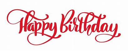 Birthday Happy Word Text Vector Lettering Hand