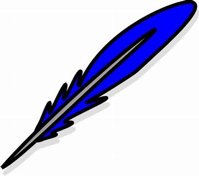 Feather Purple Plume Clipart Clip Quill Cliparts