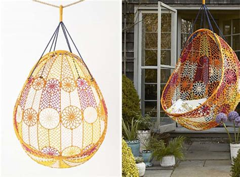 knotted melati hanging chair macrame hanging chair melati charming backyard ideas