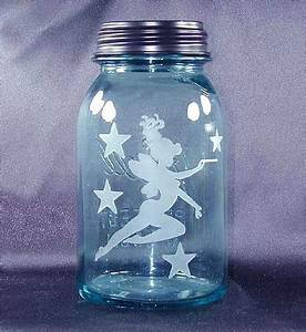 Jam Jar Garden Lights Fairy Etched In Glass Jar Solar Art Garden Lantern Solar