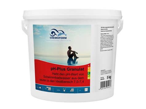 Chemoform pHPlus Granulat 5 kg Eimer Pool pH Wert Heber