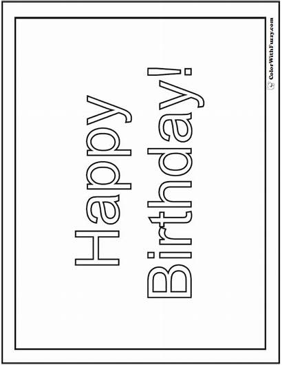 Birthday Coloring Happy Banner Customizable Pdf Colorwithfuzzy