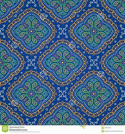 Oriental Seamless Pattern Ornate Vector