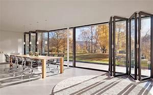 Falttüren Glas Innen : faltwand und faltt ren aus glas aluminium und holz ~ Watch28wear.com Haus und Dekorationen