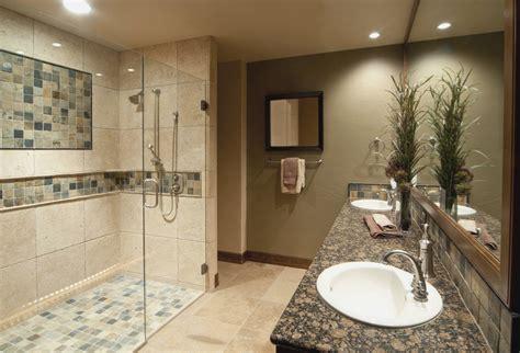 river rock bathroom ideas black glass ceramic mosaic backsplash bathroom remodel