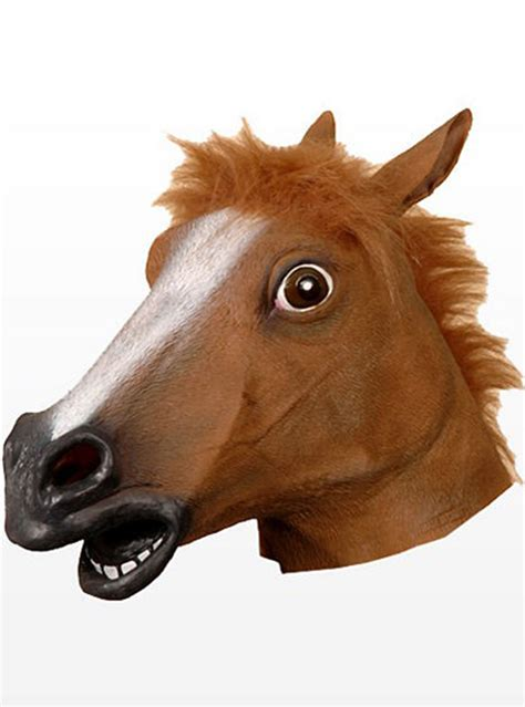 crazy horse latex mask express delivery funidelia