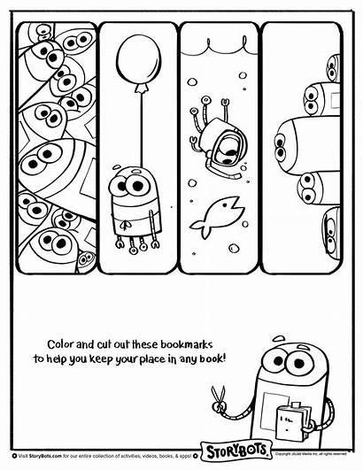 Storybots Coloring Pages Activity Bookmarks Sheets Bots