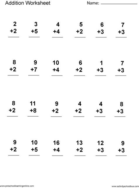 addition 1st grade printable grade math worksheets