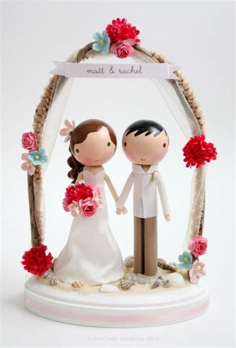 picture  unique wedding cake toppers