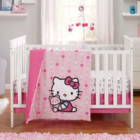 hello kitty crib set hello kitty as a button 3 crib bedding set