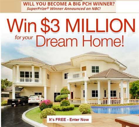 PCH $3 Million Dream Home Sweepstakes - Sweeps Maniac