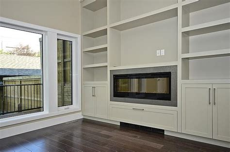 Electric Fireplace With Built In Cabinets