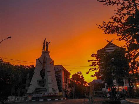 Sunset Makassar City Matahari Terbenam