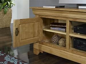Meuble Tv En Chene Massif : meubles tv 16 9eme julien en ch ne massif de style louis ~ Teatrodelosmanantiales.com Idées de Décoration