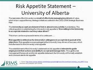 erm toolbox february 2012 defining risk appetite youtube With risk appetite template