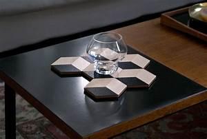 Dessous De Verre Bois : dessous de verre table tiles bois set de 6 beige noir bois areaware pop corn ~ Teatrodelosmanantiales.com Idées de Décoration