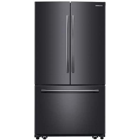 Diy Kitchen Organization Ideas - samsung 25 5 cu ft french door refrigerator in black stainless steel rf260beaesg the home depot