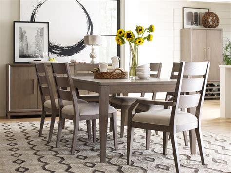 rachael ray home highline pc leg dining set  greige