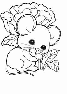 Free baby mice coloring pages