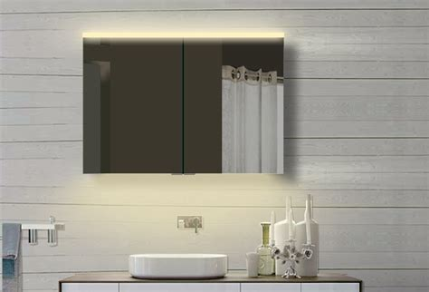 Led Badezimmer Wand Spiegelschrank In Warm/kaltweiß Alu